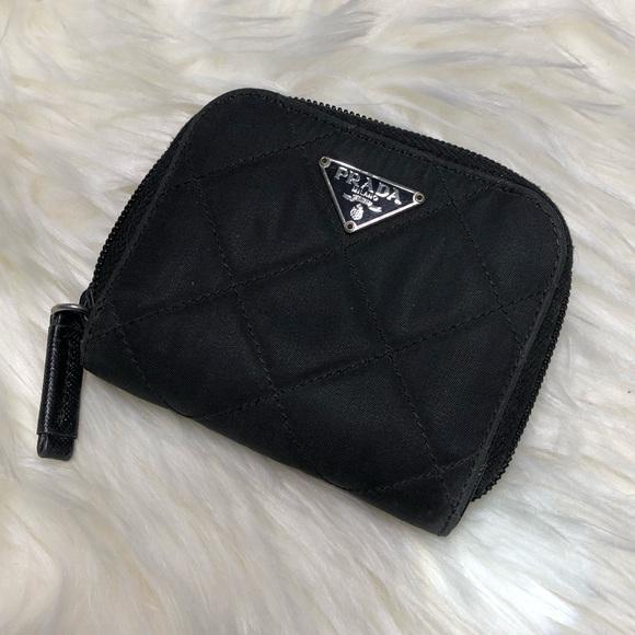 220b54f55910 Prada Bags | Black Nylon Leather Bifold Wallet | Poshmark